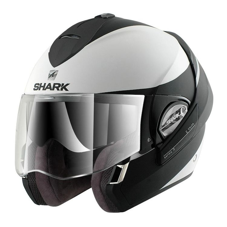 Shark Evoline 3 ST Hakka Helmet Matte White/Black / LG [Demo]