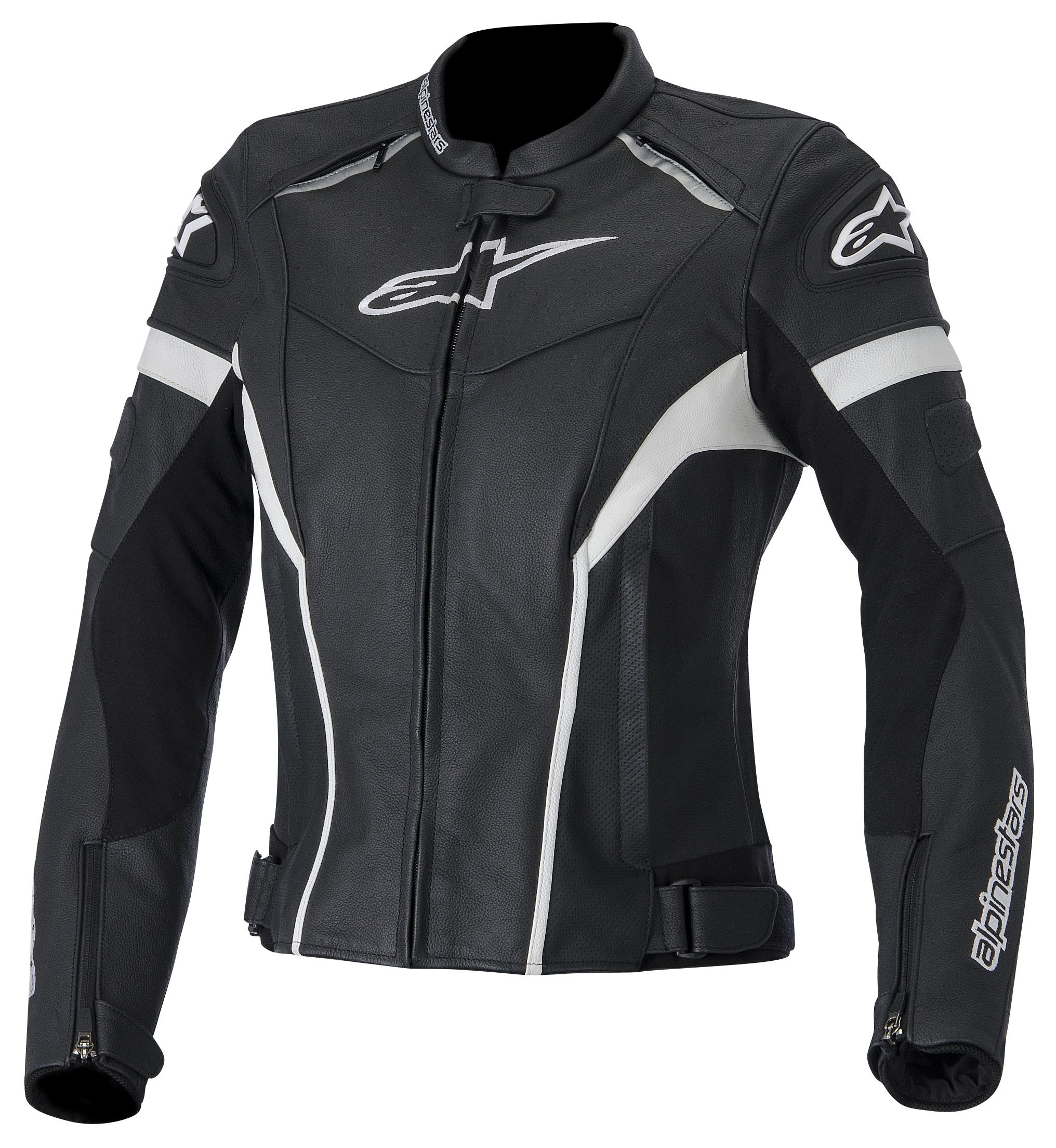 Damen Lederjacke Stella GP Plus R V2 Jacket black fuchsia pink, Alpinestars, 40