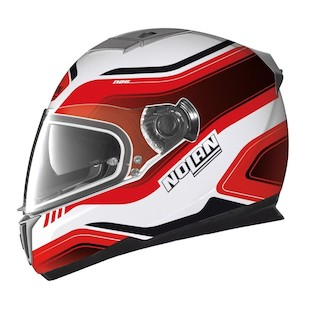 Nolan N86 Deep Helmet Metallic White/Red / MD [Demo]