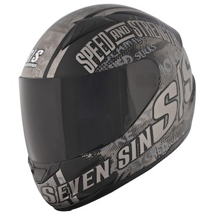 Speed and Strength SS1500 Seven Sins Helmet Black / LG [Demo]
