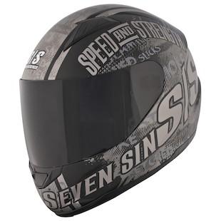 Speed and Strength SS1500 Seven Sins Helmet Black / LG [Demo]