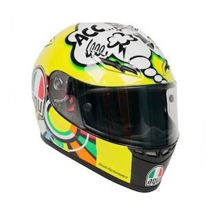 AGV GP-Tech Rossi Comic LE Helmet Hi Viz Yellow/Black/White / 2XL [Blemished]