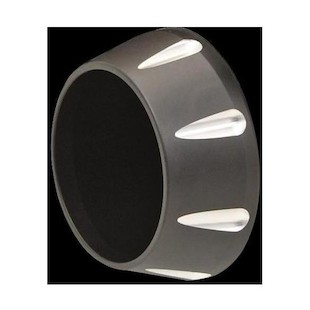 """Bassani End Caps For 4"""" Quick Change Series Mufflers Single / Tapered Black Fluted End Cap [Open Box]"""
