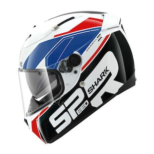 Shark Speed-R Sauer Helmet Black/White/Blue / MD [Demo]