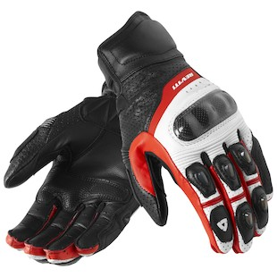 REV'IT! Chevron Gloves White/Red / 3XL [Blemished]