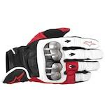 Alpinestars Octane-S Moto Gloves White/Red/Black / SM [Demo]