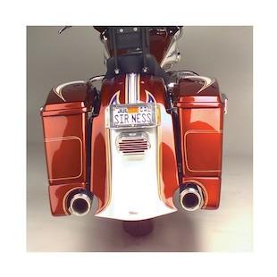 Arlen Ness Rear Fender Cover Saddlebag Extension Kit For Harley Touring 1997-2008