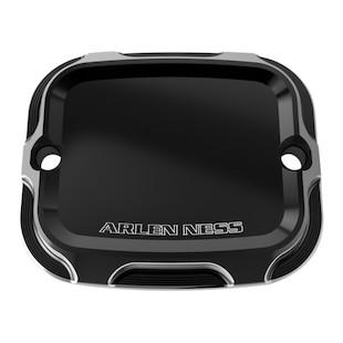 Arlen Ness Beveled Rear Brake Master Cylinder Cover For Harley Softail 2005-2017
