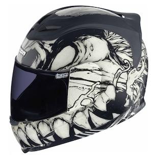 Icon Airframe Manic Helmet White/Black / LG [Blemished]