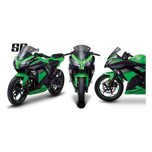Zero Gravity SR Series Windscreen Kawasaki Ninja 300 2013-2014 Clear [Previously Installed]