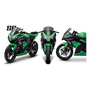 Zero Gravity SR Series Windscreen Kawasaki Ninja 300 2013-2014 [Previously Installed]