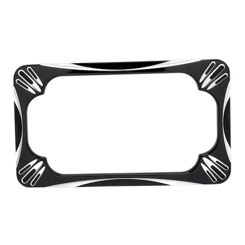 arlen ness deep cut license plate frame black