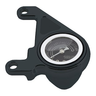 Arlen Ness Radius Oil Pressure Gauge Kit For Harley