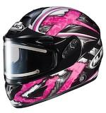 HJC CL-16 Shock Snow Helmet - Electric Shield Pink / SM [Blemished]