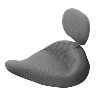 Mustang Solo Seat With Removable Driver Backrest For Harley Police 1983-2015