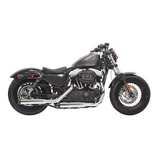 """Bassani 3"""" Firepower Slip-On Mufflers For Harley Sportster 2014"""