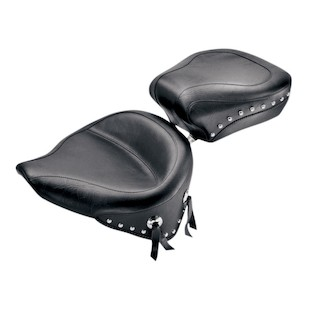 Mustang Wide Solo And Pillion Seat For Harley Softail 1984-1999
