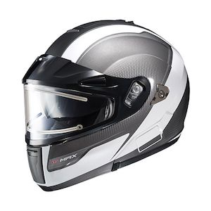 HJC IS-MAX BT Sprint Snow Helmet - Electric Shield White/Grey / XL [Blemished]