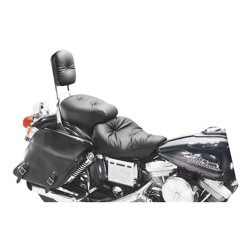 Mustang Wide Regal Touring Seat For Harley Dyna 1996 2003