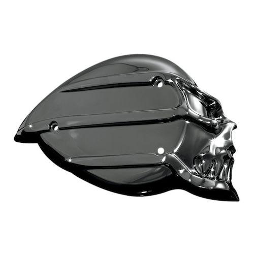 Skull Air Cleaner : Black chrome