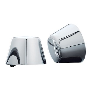 Kuryakyn Smooth Front Axle Nut Covers For Harley 1984-2006