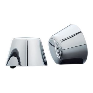 Kuryakyn Smooth Front Axle Nut Covers For Harley