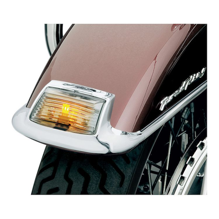 Kuryakyn Fender Tip LED Light And Smoke Lens Kit For Harley 1984-2017
