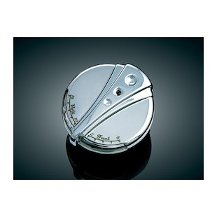 Kuryakyn LED Cap Gas Fuel & Battery Gauge For Harley 1994-2013
