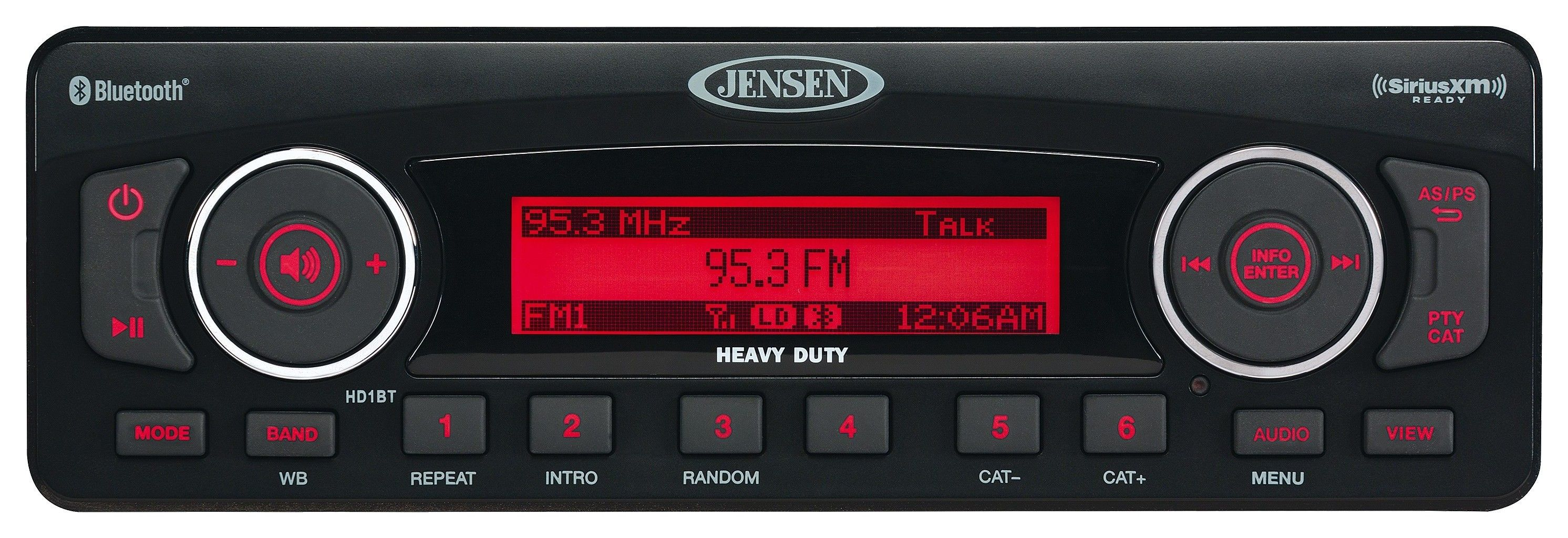 jensen hd1bt bluetooth stereo for harley touring 1998 2013 revzilla