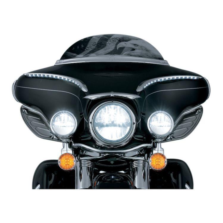"""Kuryakyn Phase 7 LED 7"""" Headlamp For Harley"""