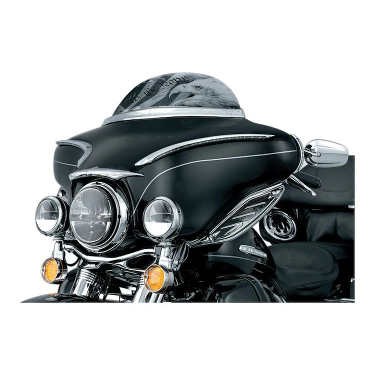 """Kuryakyn Phase 7 LED 4.5"""" Passing Lamps For Harley"""