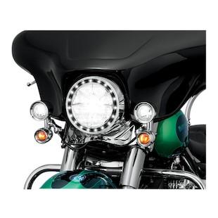 "Kuryakyn LED Halo 7"" Headlight Trim Ring For Harley"