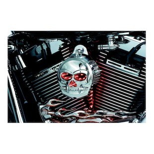 Kuryakyn LED Zombie Infinity Horn Cover For Harley 1992-2014