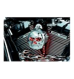 Kuryakyn LED Zombie Infinity Horn Cover For Harley 1992-2014