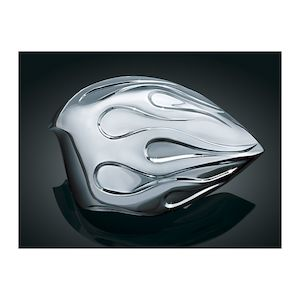 Kuryakyn Flame Horn Cover For Harley 1992-2016