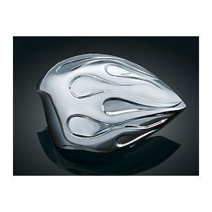 Kuryakyn Flame Horn Cover For Harley 1992-2015