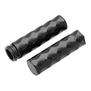 LA Choppers Billet Hex Tex Grips For Harley Fly-By-Wire