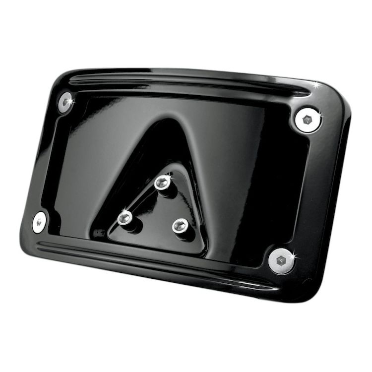 Kuryakyn Curved Laydown License Plate Frame Mount For