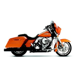 """Rinehart Slimline Duals Exhaust With 4"""" Mufflers For Harley Touring 2009-2016"""