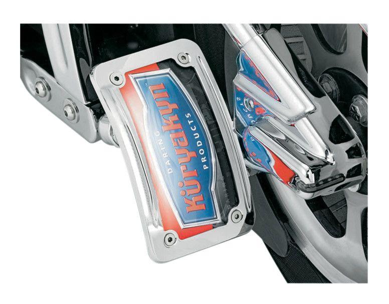 Kuryakyn 3184 Chrome Curved Horizontal Side Mount License Plate Holder Bracket