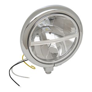 """Drag Specialties 5 3/4"""" LED Headlight Assembly For Harley"""