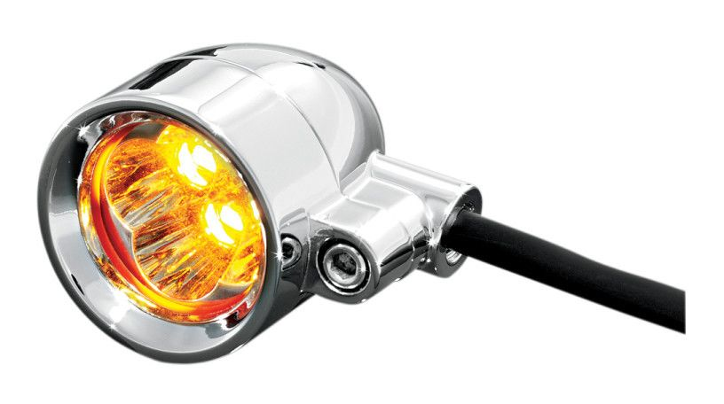 Kuryakyn Universal Super Bright LED Silver Bullet Marker Lights ...