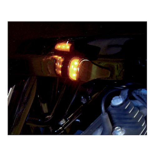 Alloy Art Led Front Turn Signals For Harley Road Glide