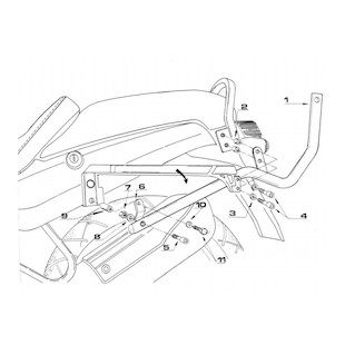 Givi 635F Top Case Support Brackets BMW R1100R 1995-2001