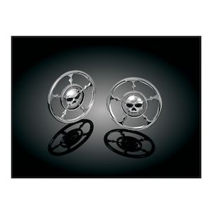 Kuryakyn Zombie Front Speaker Grills For Harley Touring 1996-2013