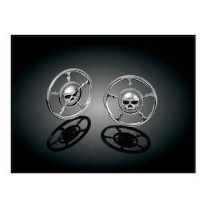 Kuryakyn Zombie Front Speaker Grills For Harley Touring 1996-2013