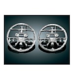 Kuryakyn Gunship Front Speaker Grills For Harley Touring 1996-2013