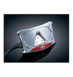 Kuryakyn Curved Laydown License Plate Frame With LED Lights