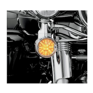 Kuryakyn Flat Turn Signal Deep Dish Bezel For Harley 1986-2017