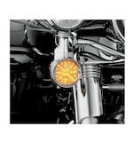 Kuryakyn Flat Turn Signal Deep Dish Bezel For Harley 1986-2014